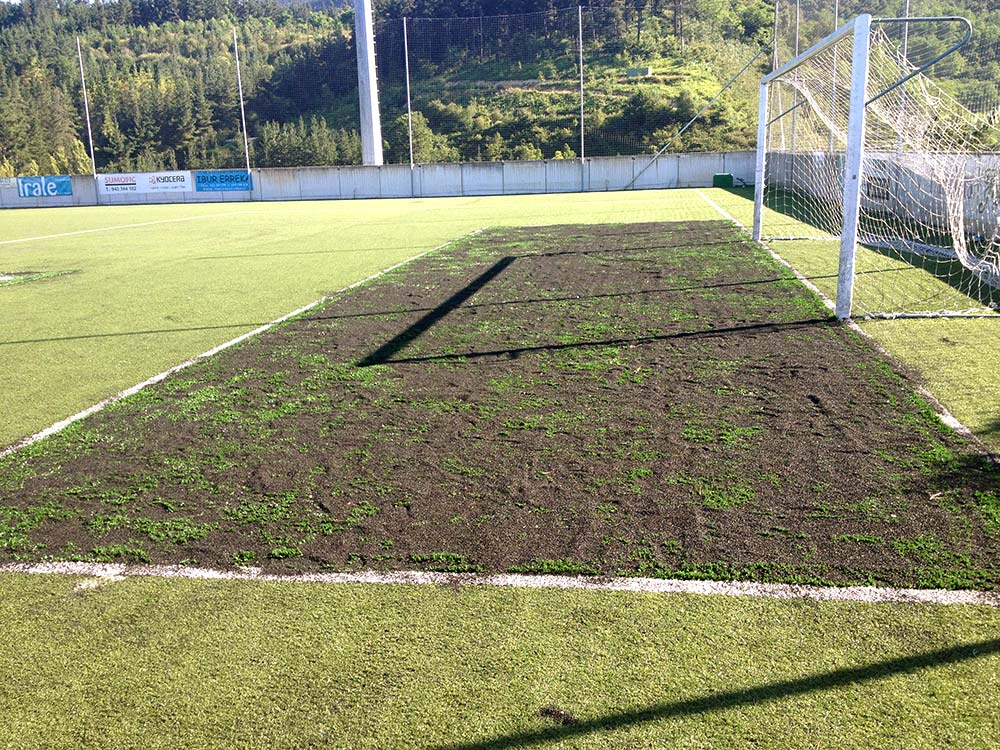 césped artificial Norcesped instalación hierba artificial deportivo reparación campo de fútbol IMD Ermua