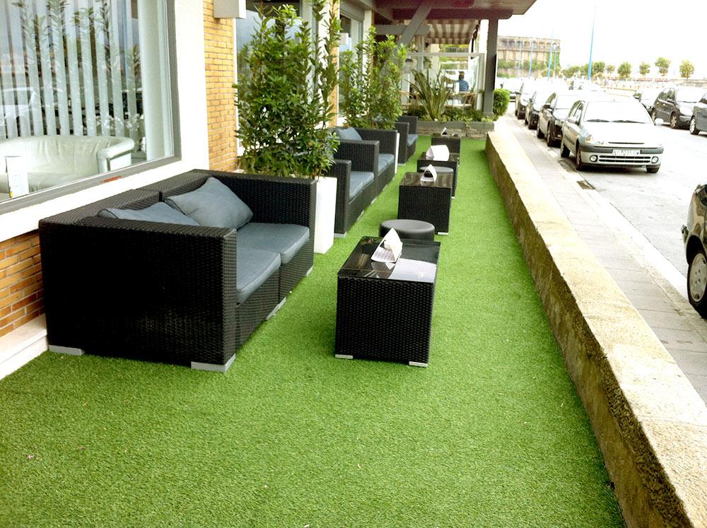 csped artificial en terraza de hotel restaurante los tamarises norcesped empresa instaladora de csped artificial decorativo y csped artificial