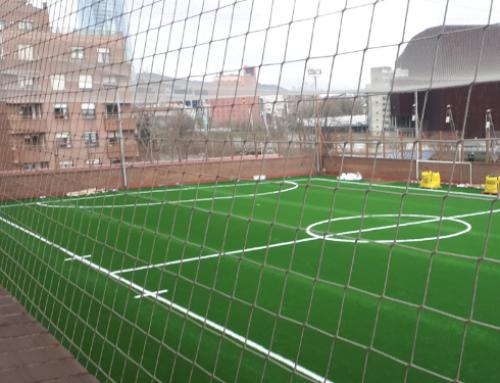 Sustitución césped artificial en Campo de Fútbol P.M. Deusto