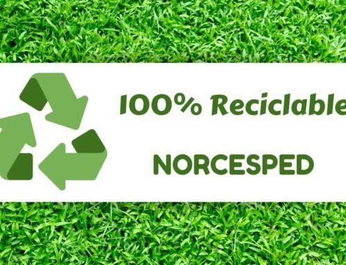 Nuestro césped es 100% reciclable. ♻✔.