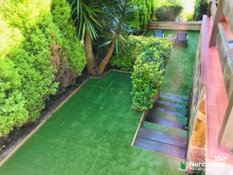 césped artificial jardín Plentzia