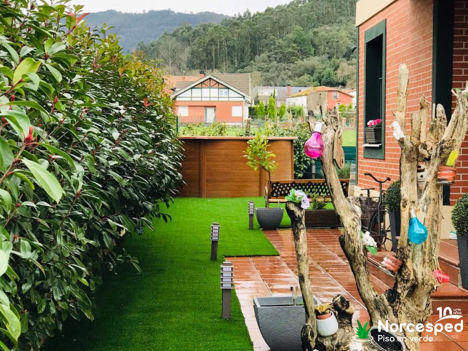 césped artificial jardin Guriezo