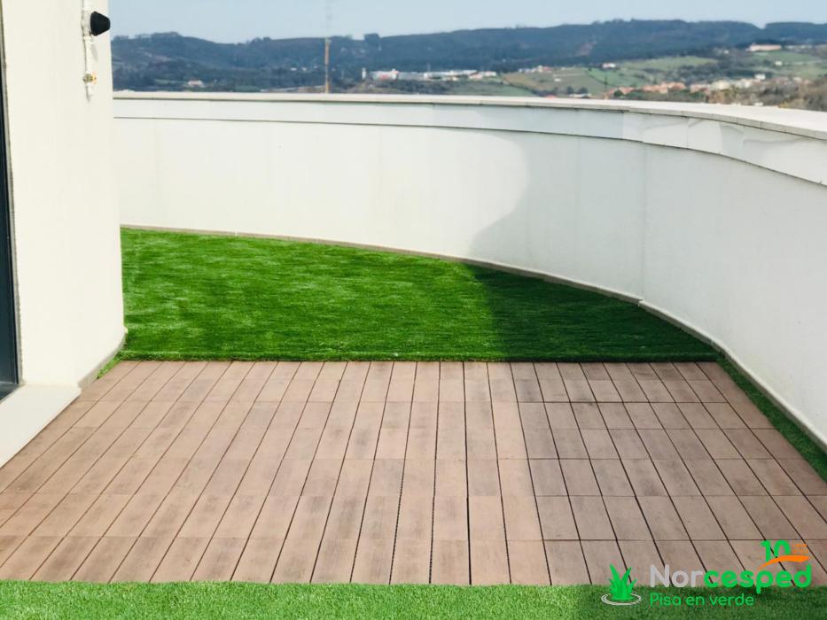 césped artificial terraza Portugalete