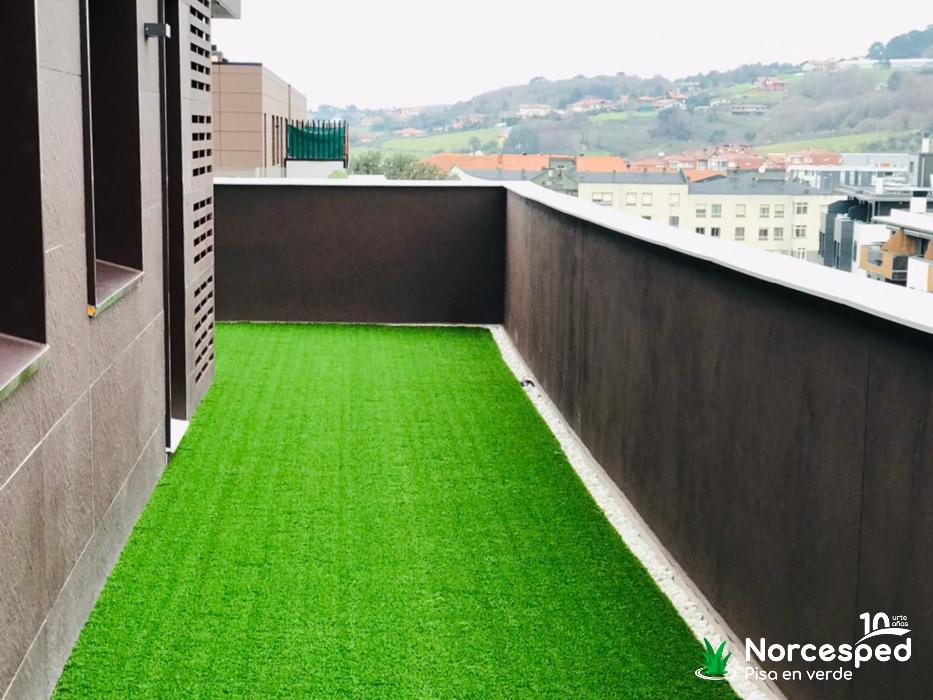 césped artificial terraza Urduliz